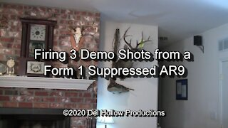 S10E3 - Firing 3 Demo Shots from a Form 1 Suppressed AR9