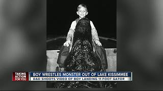 8-year-old Florida boy catches 11-foot gator - Video