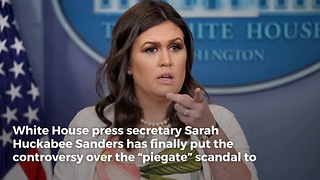 Sarah Sanders Shuts Down 'Pie Gate' Scandal Once and For All With Behind-the-Scenes Pictures - Video