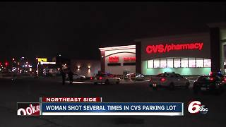 Woman in serious condition after being shot multiple times in CVS parking lot - Video