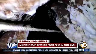 Thai cave rescue: Trapped boys emerge - Video