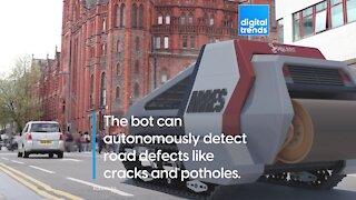 Asphalt Spewing Robot!