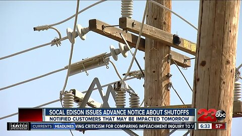 SoCal Edison Issues Advance Notice About Shutoffs
