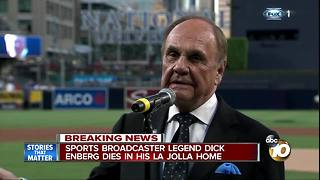 Sports broadcaster legend Dick Enberg dies in his La Jolla home - Video