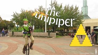 Unicycling Piper Performs the Legend of Zelda - Video