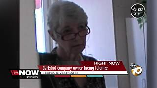 Carlsbad company owner facing felonies - Video