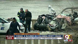 Deadly crash shuts down Columbia Parkway