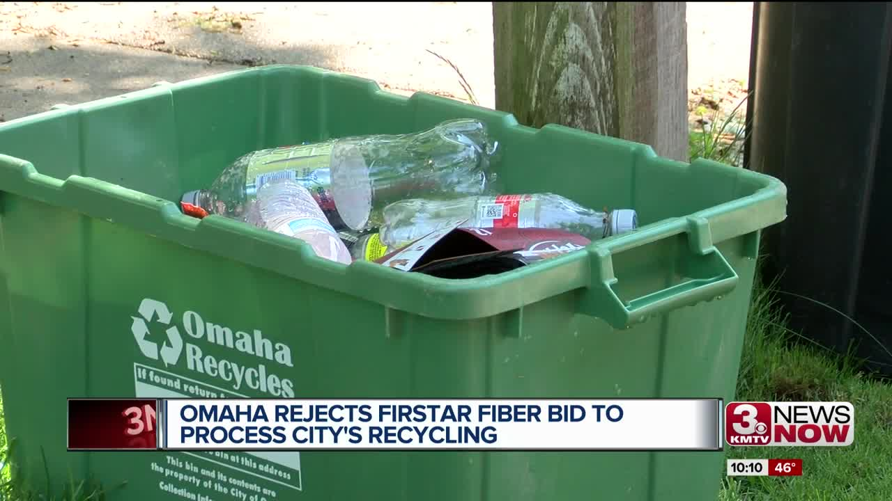Omaha rejects Firstar Fiber bid to process city's recycling