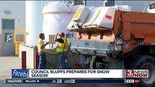 Council Bluffs prepares for snow season - Video