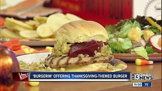 Burgerim offering Thanksgiving-themed burger - Video