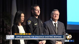 Officer honored for heroic acts in Poway synagogue shooting