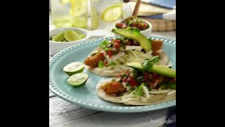 Breaded Fish Tacos with Pico de Gallo