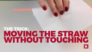 Bar Tricks : Spin a straw without using your hands | Rare Life