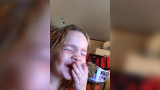 Girl Takes On The Warhead Challenge