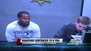 Former UA football player Bradford sentenced for aggravated assault - Video