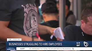 California businesses struggling to hire employees