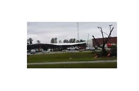 Possible Tornado Damages Buildings Near Spartanburg - Video
