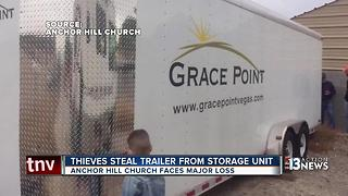 Thieves steal storage trailer belonging to church - Video