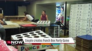 Mom's a Genius: Couple creates Punch Box Party Game - Video