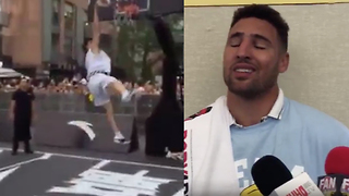 Klay Thompson Tries to Defend His China Dunk FAIL - Video