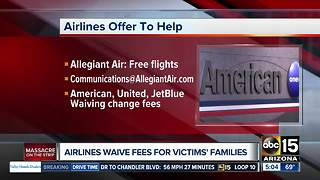 Airlines offering to help Las Vegas victims and families - Video