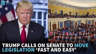 Trump Calls On Senate To Move Legislation 'Fast And Easy' - Video