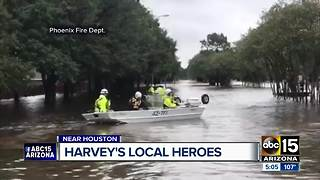 Local volunteers helping victims of Hurricane Harvey - Video