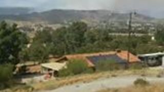Agua Dulce Brush Fire Forces Evacuations - Video