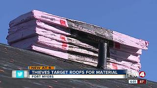 Thieves target roofs for materials - Video