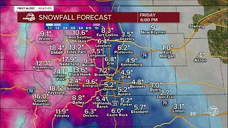First Alert Action Day: More snow tonight and Friday