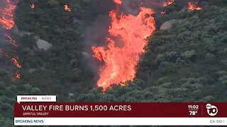 Valley Fire explodes to 1,500 acres, forcing evacuations