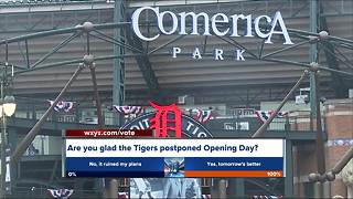 Detroit Tigers Opening Day postponement causes parking mess