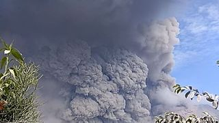 Mount Sinabung Spews Volcanic Ash Over 2 Miles High in Latest Eruption - Video