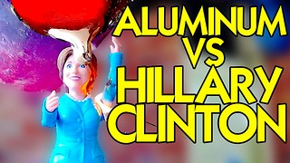 HILLARY CLINTON VS MOLTEN ALUMINUM - Video