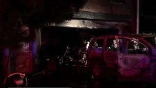 Fire displaces family near Pecos, Desert Inn - Video