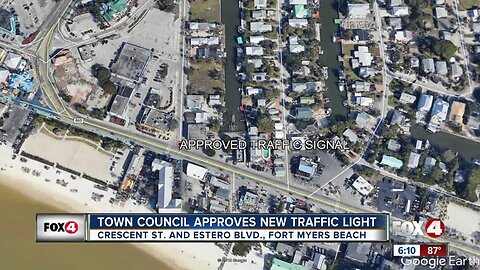 Traffic light to be installed on Fort Myers Beach