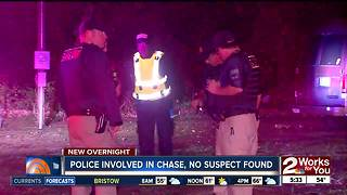 Police involved with overnight chase but suspect not found - Video
