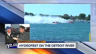Hyrdofest happening all weekend long on the Detroit River - Video
