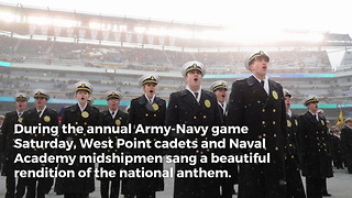 Army-Navy Game Anthem Puts NFL to Shame - Video