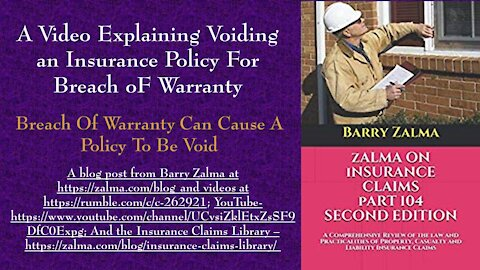 A Video Explaining Voiding an Insurance Policy for Breach of Warranty