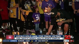 Locals hold vigil for Kobe Bryant and crash victims