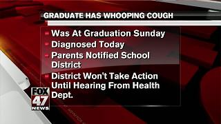 Student with whooping cough was at high school graduation ceremony - Video