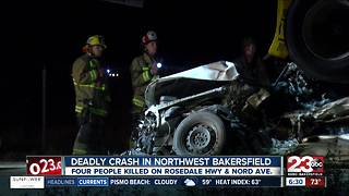 Four people killed in northwest Bakersfield crash - Video
