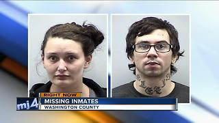 Law enforcement in Washington County searching for 2 inmates - Video