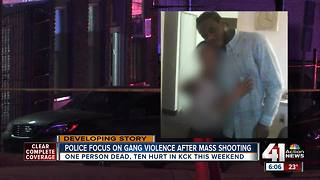 Police focus on gang violence after mass shooting - Video