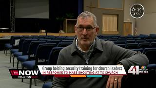 Group holding security training for church leaders - Video