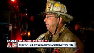 Firefighters investigating overnight South Buffalo fire