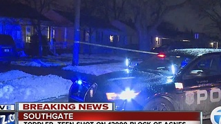 Toddler, teen shot in Southgate - Video