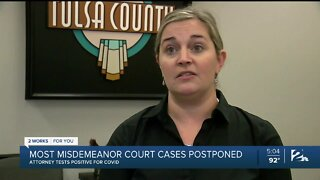 Misdemeanor court cases postponed after attorney tests positive for COVID-19