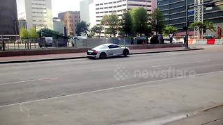 Driver crashes brand new Audi R8 supercar - Video